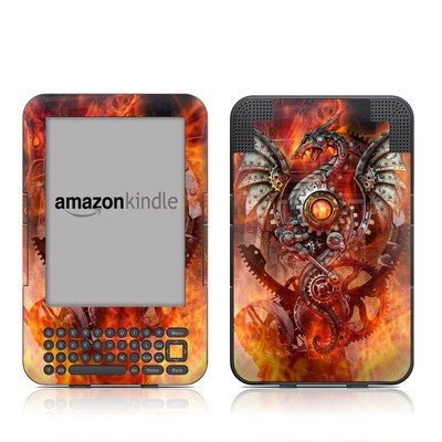 Kindle Keyboard Skin - Furnace Dragon