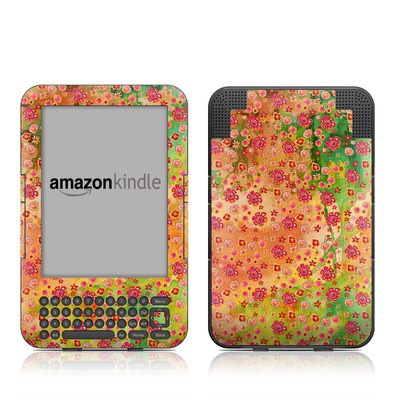 Kindle Keyboard Skin - Garden Flowers