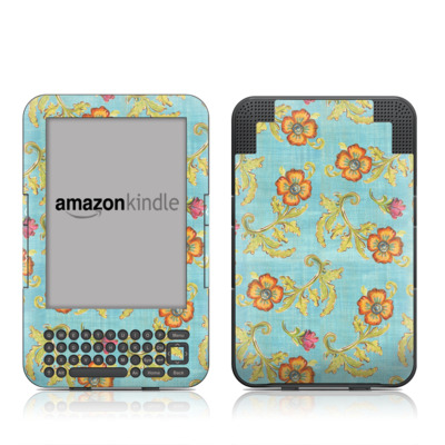 Kindle Keyboard Skin - Garden Jewel