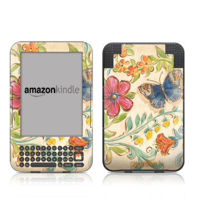 Kindle Keyboard Skin - Garden Scroll