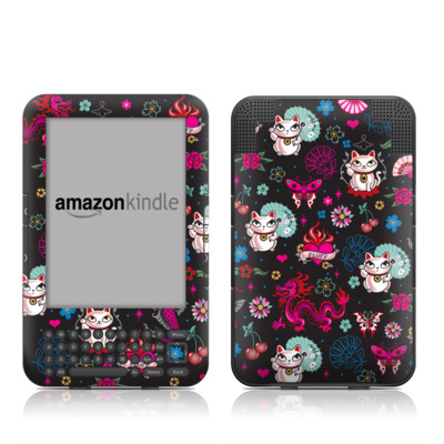 Kindle Keyboard Skin - Geisha Kitty