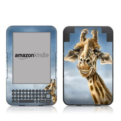 Kindle Keyboard Skin - Giraffe Totem