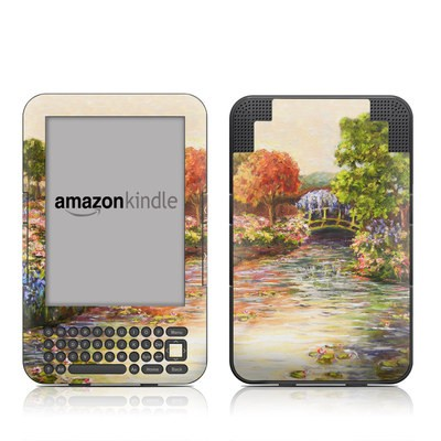 Kindle Keyboard Skin - Giverny Forever