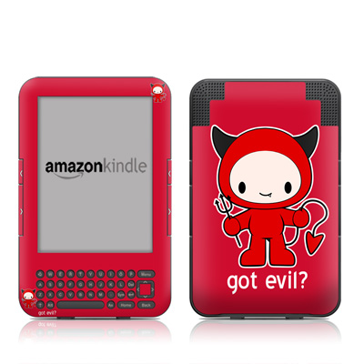 Kindle Keyboard Skin - Got Evil