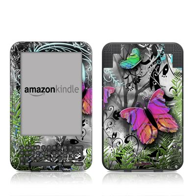 Kindle Keyboard Skin - Goth Forest