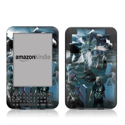 Kindle Keyboard Skin - Graveyard