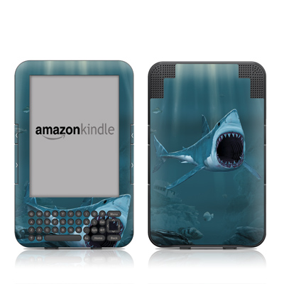 Kindle Keyboard Skin - Great White