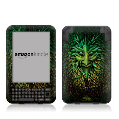 Kindle Keyboard Skin - Greenman