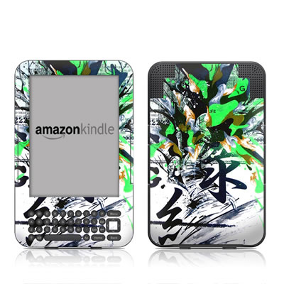 Kindle Keyboard Skin - Green 1