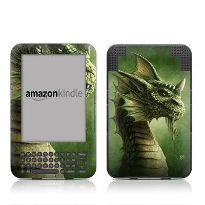 Kindle Keyboard Skin - Green Dragon