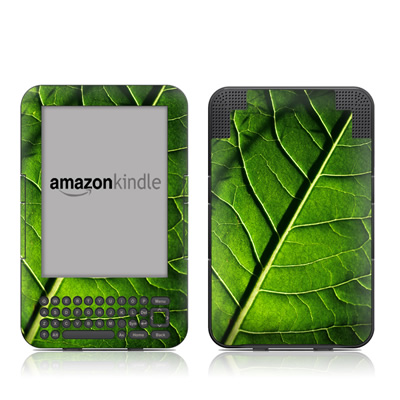 Kindle Keyboard Skin - Green Leaf