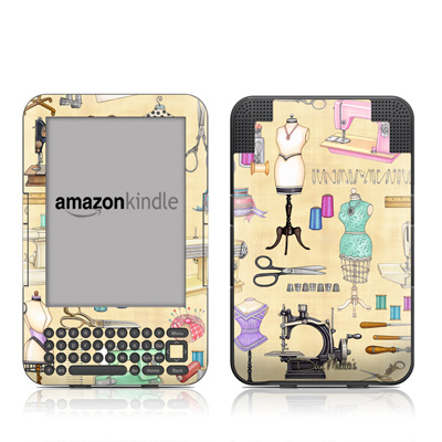 Kindle Keyboard Skin - Haberdashery