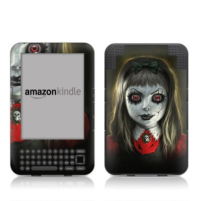 Kindle Keyboard Skin - Haunted Doll