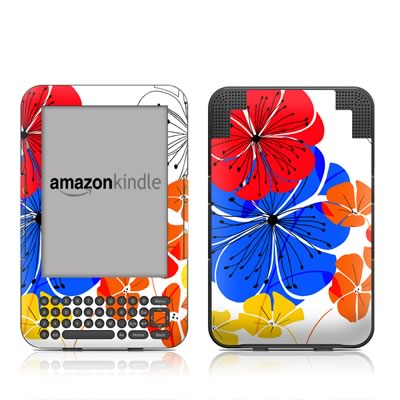 Kindle Keyboard Skin - Hibiscus Dance