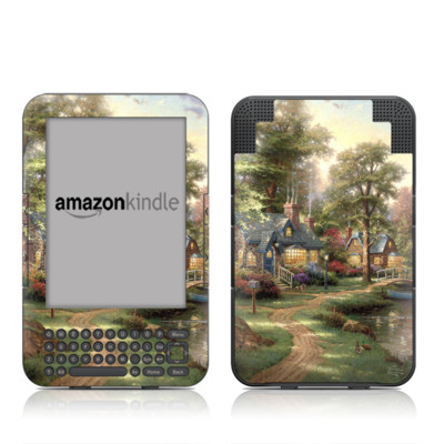 Kindle Keyboard Skin - Hometown Lake