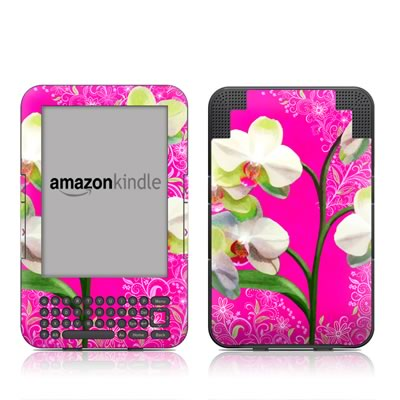 Kindle Keyboard Skin - Hot Pink Pop