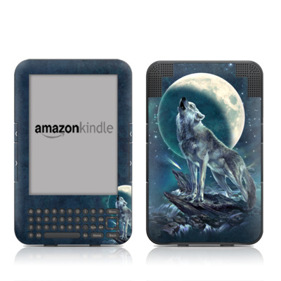 Kindle Keyboard Skin - Howling Moon Soloist