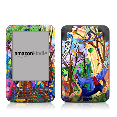 Kindle Keyboard Skin - Happy Town Celebration
