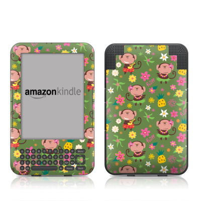 Kindle Keyboard Skin - Hula Monkeys