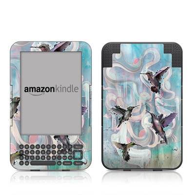 Kindle Keyboard Skin - Hummingbirds