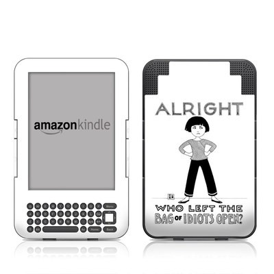 Kindle Keyboard Skin - Bag of Idiots