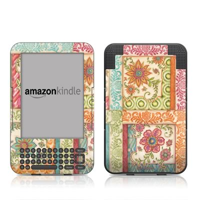 Kindle Keyboard Skin - Ikat Floral