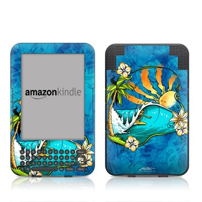 Kindle Keyboard Skin - Island Playground