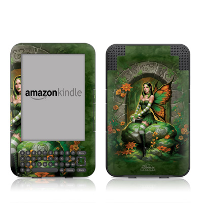 Kindle Keyboard Skin - Jade Fairy
