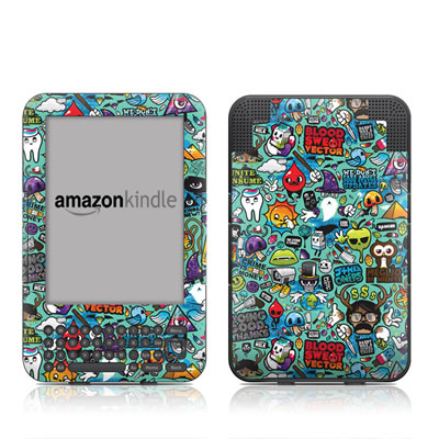 Kindle Keyboard Skin - Jewel Thief