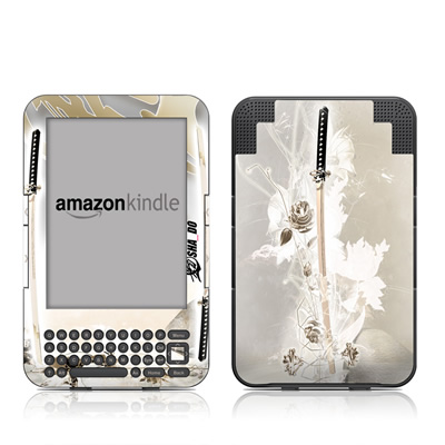 Kindle Keyboard Skin - Katana Gold