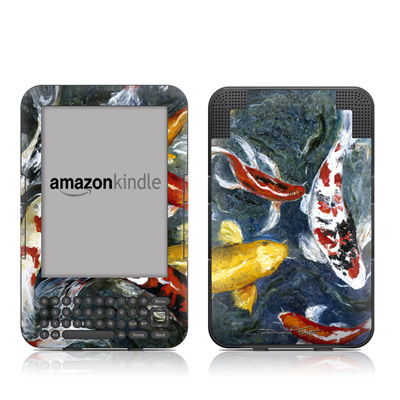 Kindle Keyboard Skin - Koi's Happiness