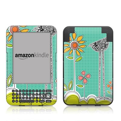 Kindle Keyboard Skin - Little Chicken