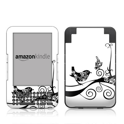 Kindle Keyboard Skin - Little Curly