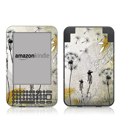 Kindle Keyboard Skin - Little Dandelion