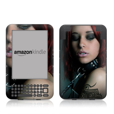 Kindle Keyboard Skin - Leashed