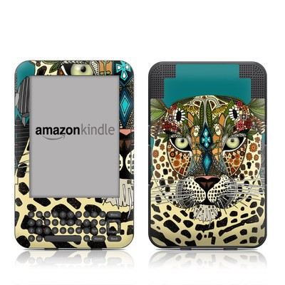 Kindle Keyboard Skin - Leopard Queen