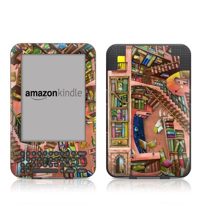 Kindle Keyboard Skin - Library Magic