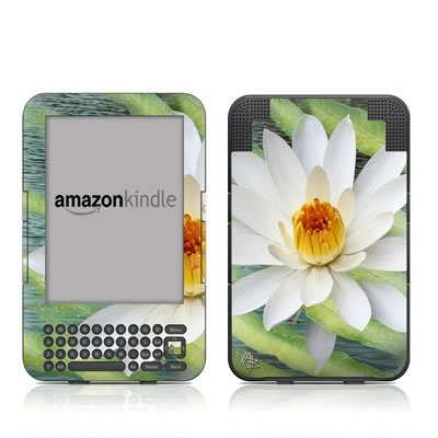 Kindle Keyboard Skin - Liquid Bloom