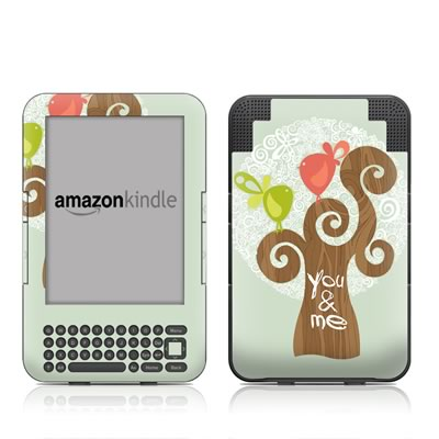Kindle Keyboard Skin - Two Little Birds