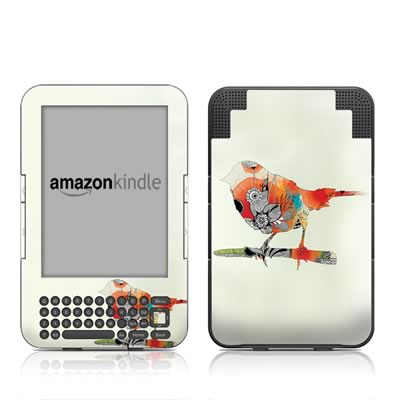 Kindle Keyboard Skin - Little Bird