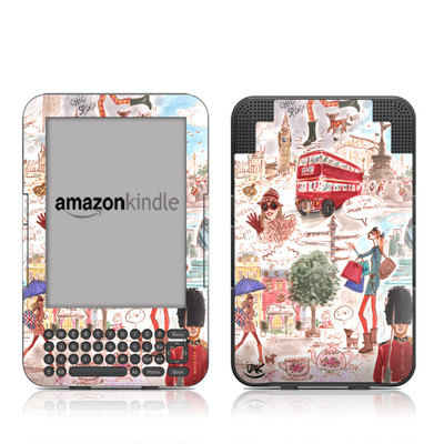 Kindle Keyboard Skin - London
