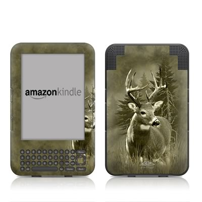 Kindle Keyboard Skin - Lone Buck