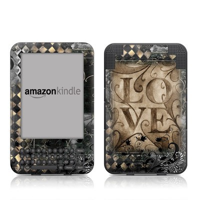 Kindle Keyboard Skin - Love's Embrace