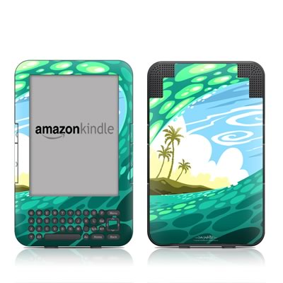 Kindle Keyboard Skin - Lunch Break