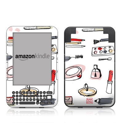 Kindle Keyboard Skin - Makeup