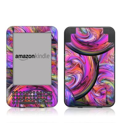 Kindle Keyboard Skin - Marbles