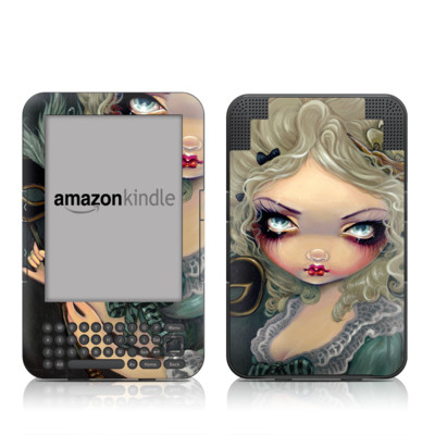 Kindle Keyboard Skin - Marie Masquerade