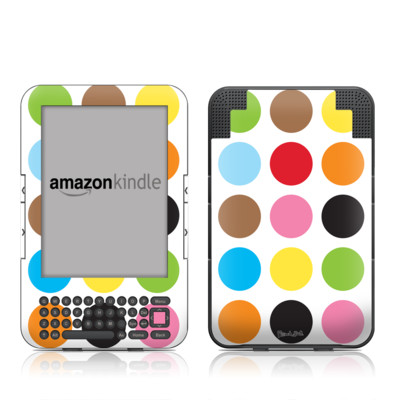 Kindle Keyboard Skin - Multidot