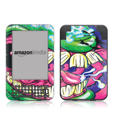 Kindle Keyboard Skin - Mean Green