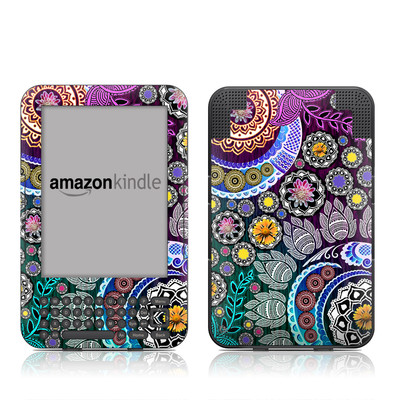Kindle Keyboard Skin - Mehndi Garden
